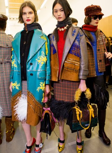 Prada Fall 2017 Fashion Show Backstage