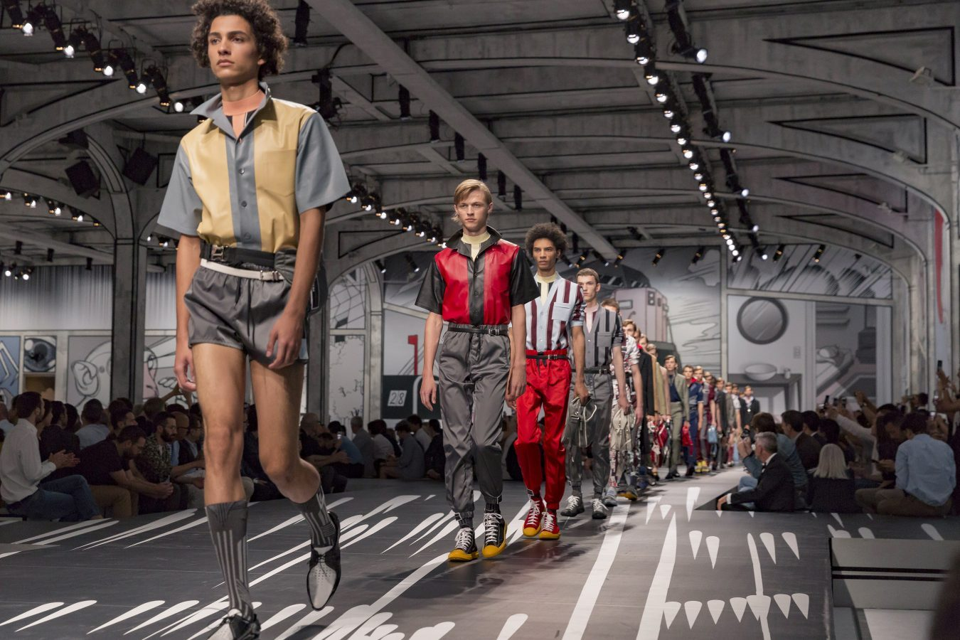 Prada Spring 2018 Men's Fashion Show Atmosphere