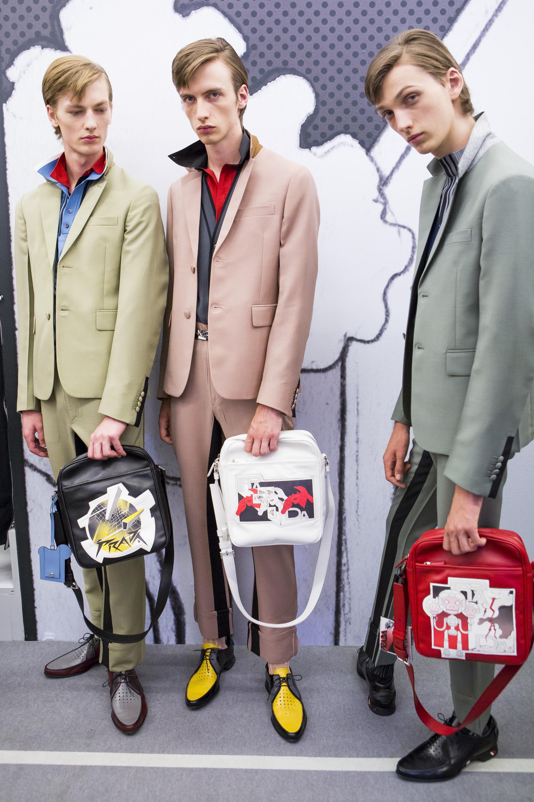 Prada Spring 2018 Mens Fashion Show Backstage