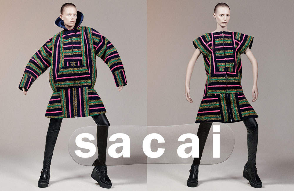 Sacai Fall 2015 ad campaign photo