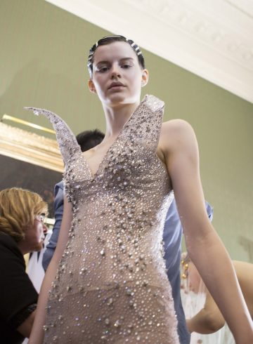 Francesco Scognamiglio Spring 2017 Couture Fashion Show Backstage