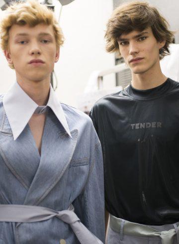 Sean Suen Spring 2018 Men's Fashion Show Backstage