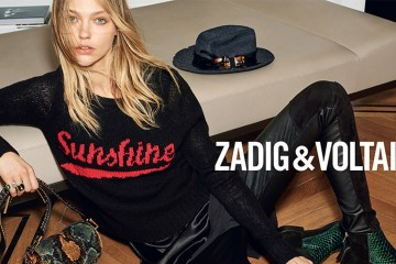 Sasha Pivovarova for Zadig & Voltaire Fall 2015 ad campaign